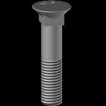 Śruba płużna 4-kątna z podsadzeniem BTFCC 12100, kl. 12.9