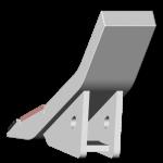 Dziób lemiesza Bednar (Stromexport) z węglikem wolframu SDB 0197-R