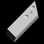 Nakładka lemiesza Lemken  z węglikem wolframu PBL 4054D (prawa)