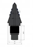 Ząb płaski BFZ70 z z węglikem wolframu