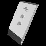 Nakładka lemiesza Kverneland z węglikem wolframu PBK 9085D (prawa)