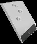 Nakładka lemiesza Overum z węglikem wolframu PBO 0131G (lewa)