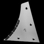 Pierś odkładni Kühn - Huard z węglikem wolframu ETH 0172G (lewa)