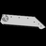 """Lemiesz Kverneland 18"""" z węglikem wolframu SBK 3006MD (prawy)"""