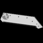 """Lemiesz Kverneland 18"""" z węglikem wolframu SBK 3080MD (prawy)"""