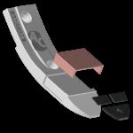 Dziób Lemken z węglikem wolframu BDL 4441C+