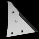 Pierś odkładni Kühn - Huard z węglikem wolframu ETH 0120D (prawa)