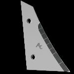 Pierś odkładni Kverneland z węglikem wolframu ETK 0250D (prawa)