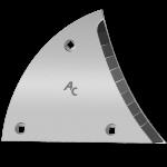 Pierś odkładni Lemken z węglikem wolframu ETL 3450D (prawa)