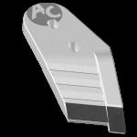 Nakładka lemiesza Kühn - Huard z węglikem wolframu PBH 2128D (prawa)