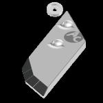 Nakładka lemiesza Lemken z węglikem wolframu PBL 4156ND (prawa)